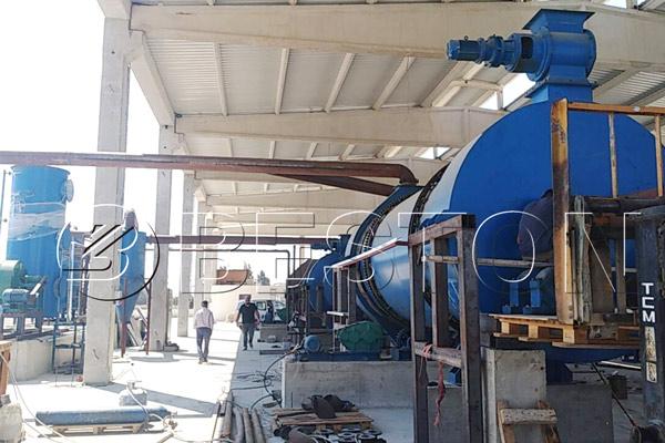 Installation of Beston Biomass Charcoal Making Plant in Turkey