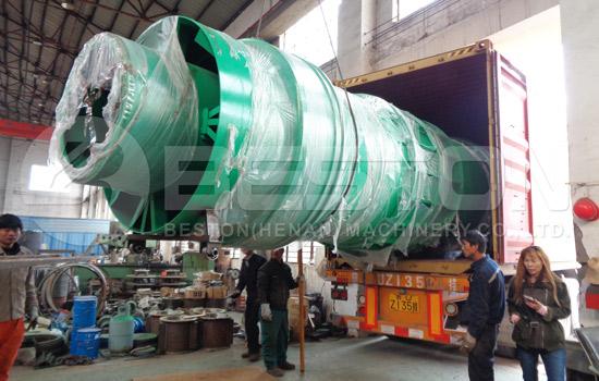 Charcoal Making Machine Shipped to Spanish
